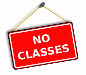 no classes sign