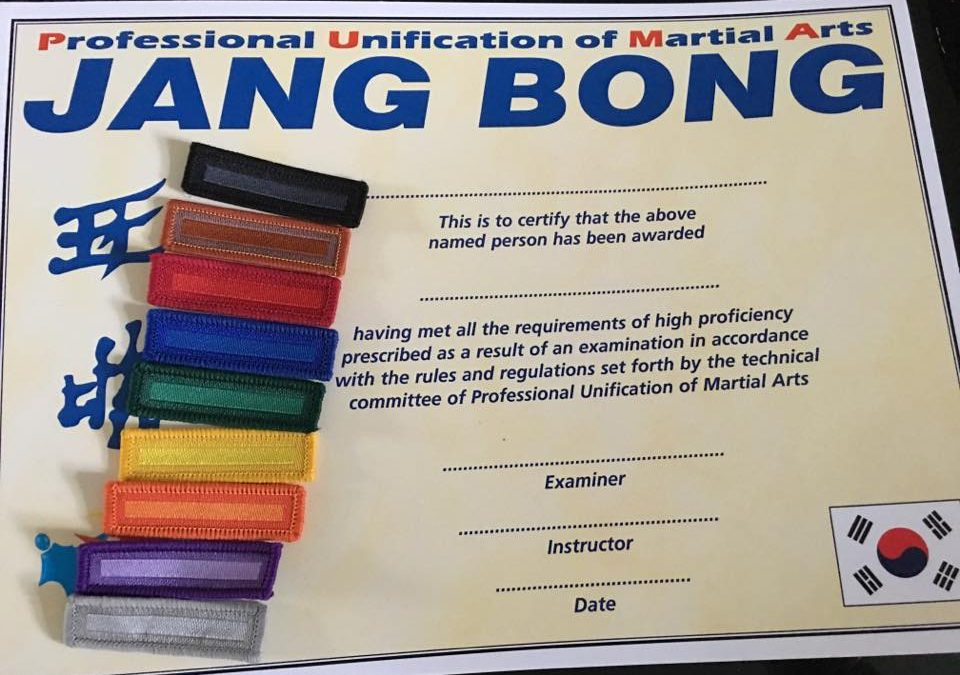 Jang Bong Certificate
