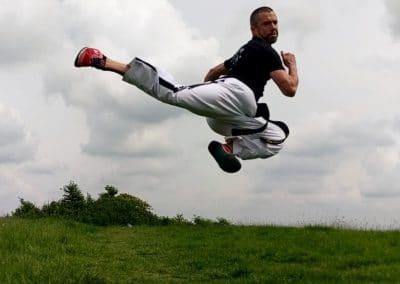 Nick Evans Jump Back Kick