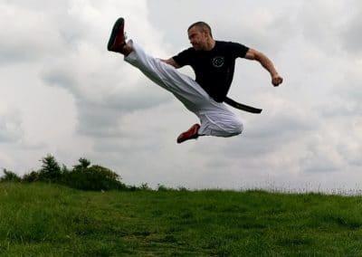 Nick Evans Jump Reverst Turning Kick