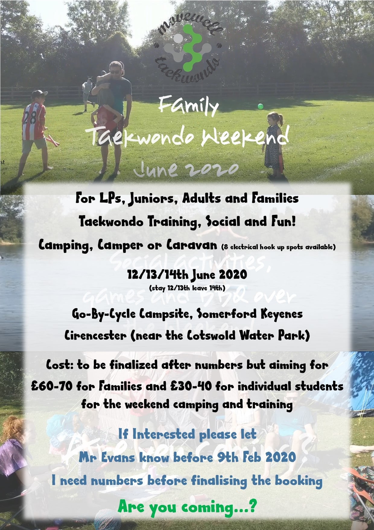 Movewell Camping Weekend 2020 poster