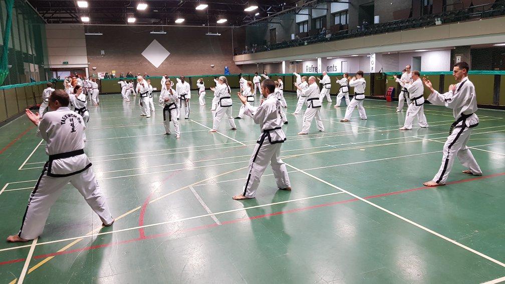 PUMA red and black belt training session
