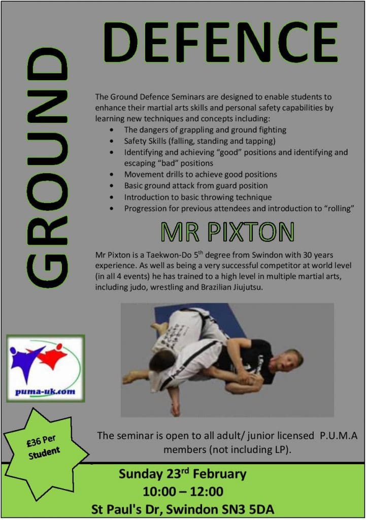 Ground Defence Seminar with Mr Pixton on 23/02/20 poster