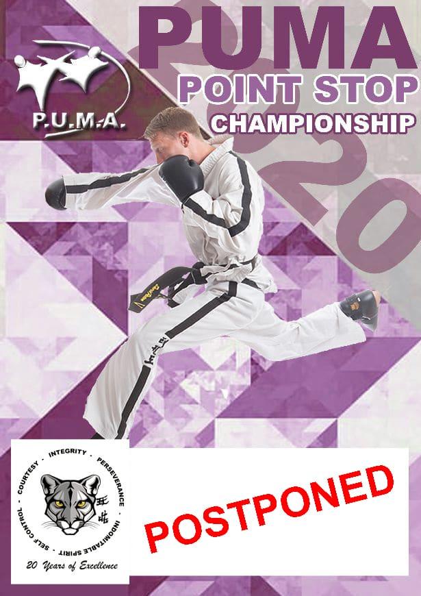 Postponed PUMA Point Stop Championship poster