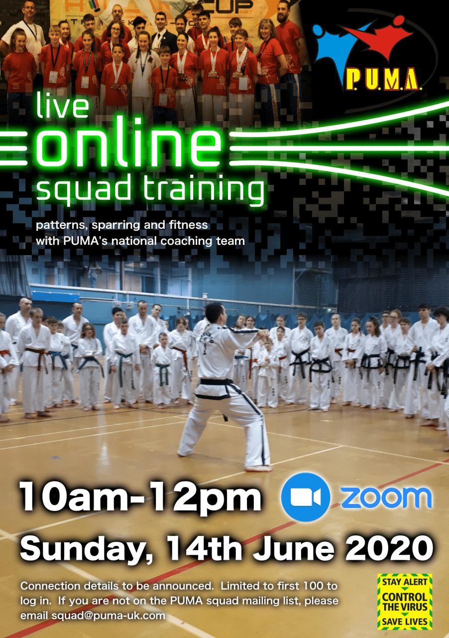 Online squad training session-14th June 2020