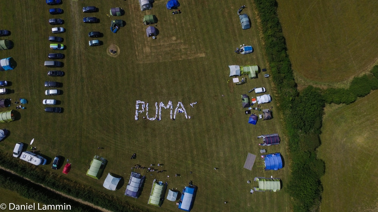 PUMA Summer Camp-tents in field