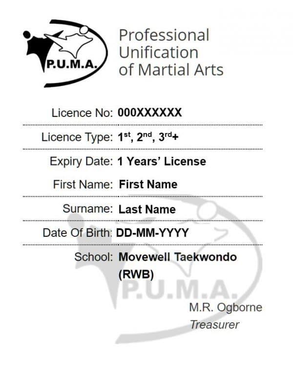TKD Annual License