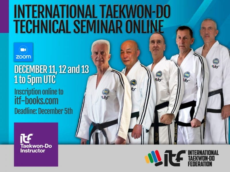 International Taekwondo Technical Seminar Online Dec 2020 poster