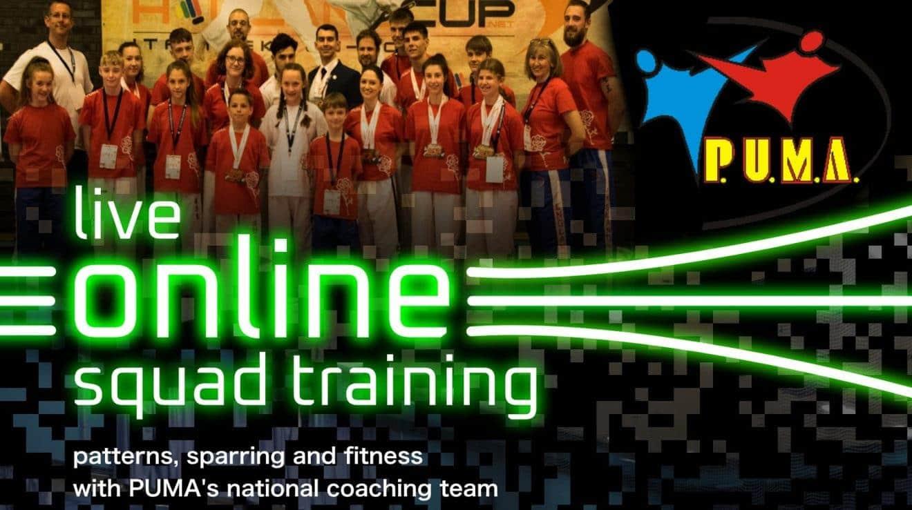 Online squad training 24 Jan 2021 poster